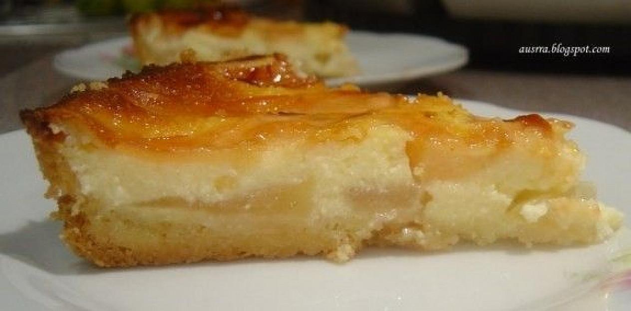Varškės ir kefyro pyragas su obuoliais   Receptas