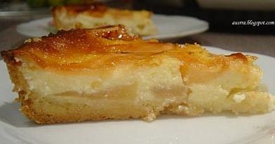 Varškės ir kefyro pyragas su obuoliais | Receptas