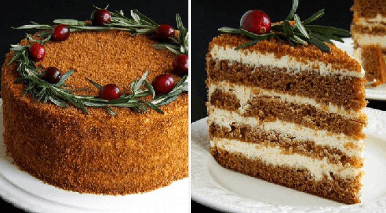 Biskvitinis medaus tortas | Video Receptas