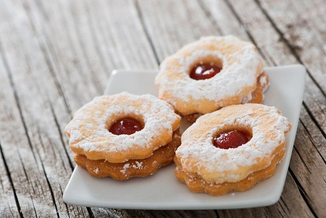 Trapūs sausainiai su džemu