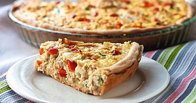 Vištienos pyragas su paprikomis