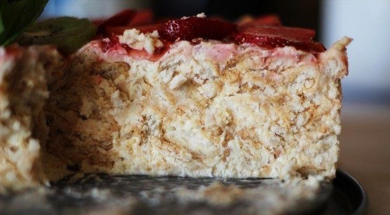 Krekerių tortas: greitas, nekeptas ir skanus