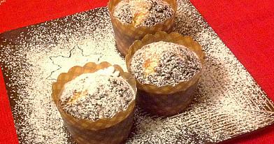 Marmuriniai keksiukai su migdolų sirupu