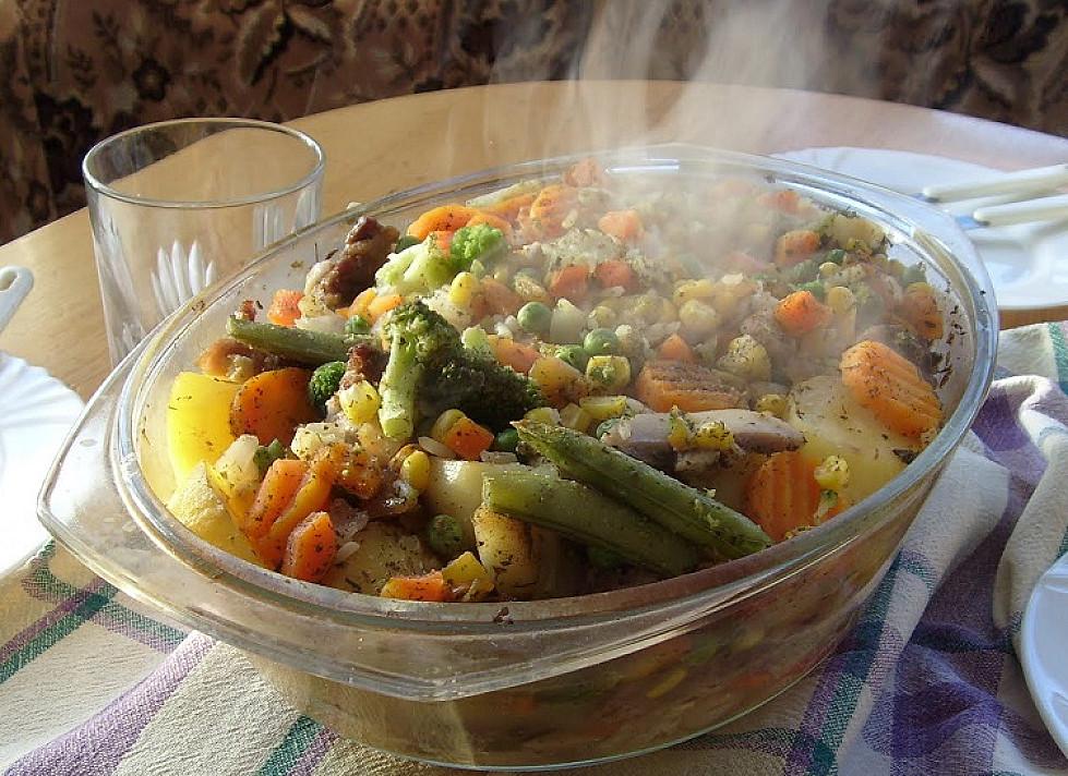 Troškinys su daržovėmis ir mėsa
