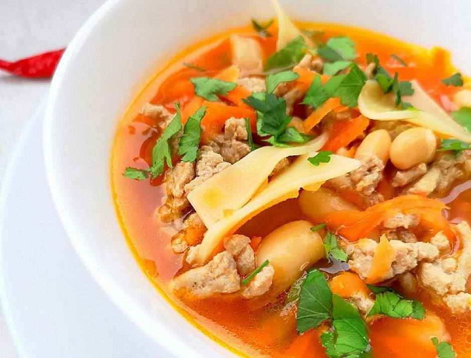 Aštri sriuba su malta mėsa