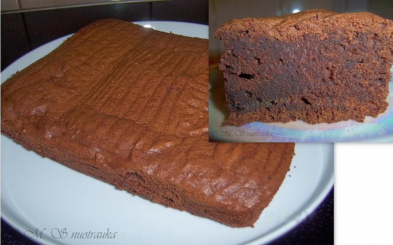 Tikro šokolado pyragas - vaikai pavadino skaniausiu iki šiol valgytu pyragu! :)