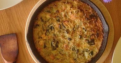 Žalias kugelis su špinatais ir keptu varškės sūriu (pagal Beatos receptą) - mūsų šeimos itin pamėgtas!