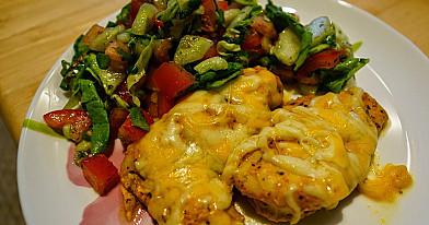 Česnakinė vištiena su sūriu - prižadu sultingus ir gardžius kepsnius
