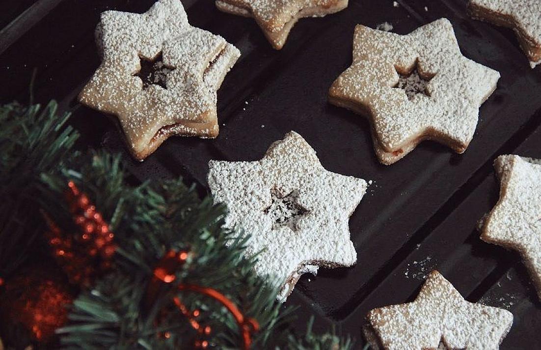 Šventinės žvaiždutės - sausainiai