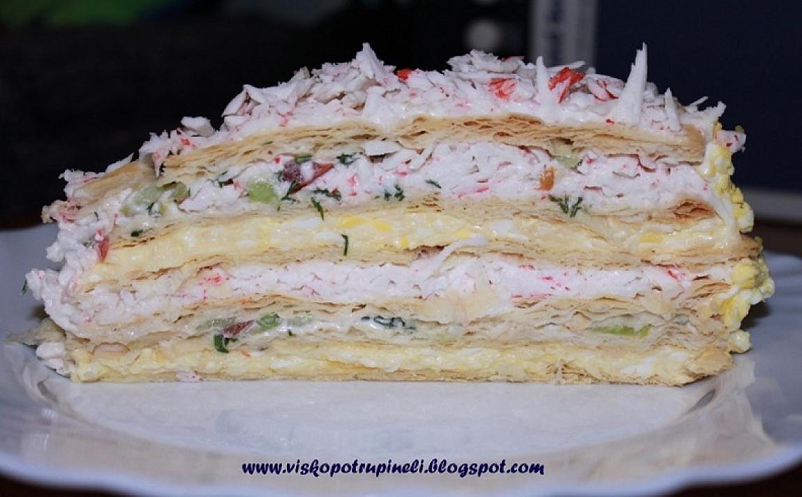 Pikantiškas užkandžių tortas - kai atsibosta įprasti užkandžiai!