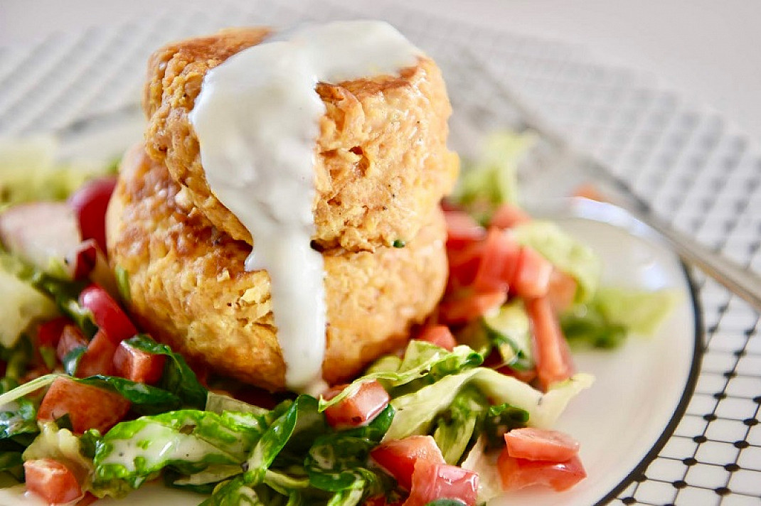Saldžiųjų bulvių ir kalakutienos (arba vištienos) kukuliukai
