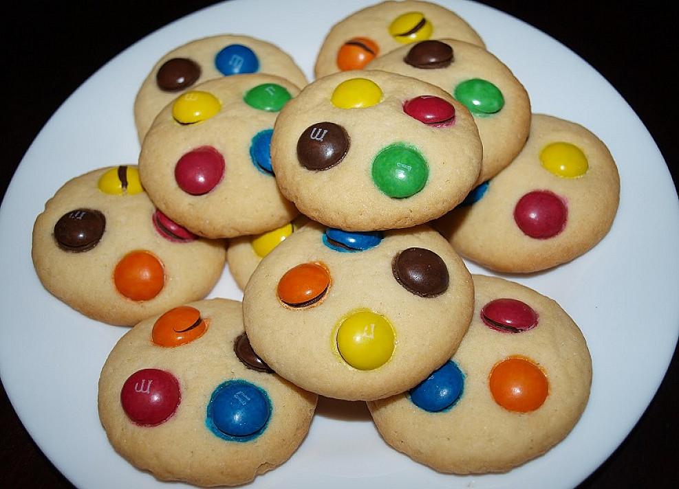 Sausainiai su M&M