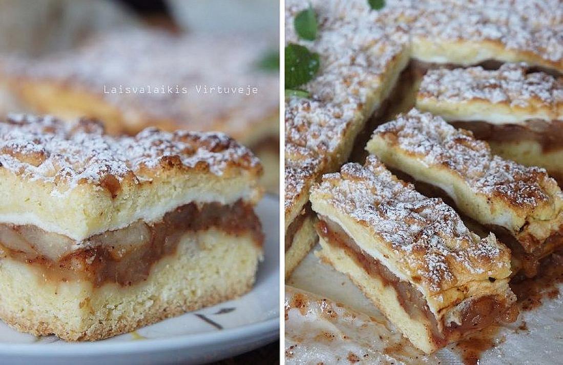 Prašmatnus obuolių pyragas