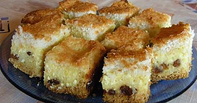 Varškės pyragas su kokosų plutele