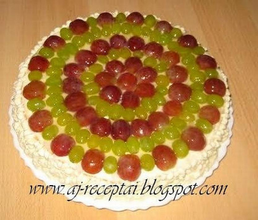 Maskarponės ir grietinėlės tortas