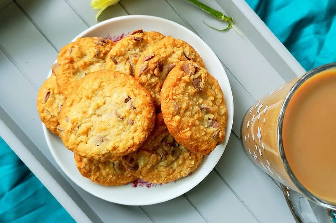 Kokosiniai sausainiai su šokoladu