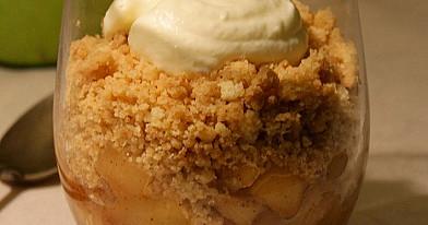 Trupininis obuolių desertas