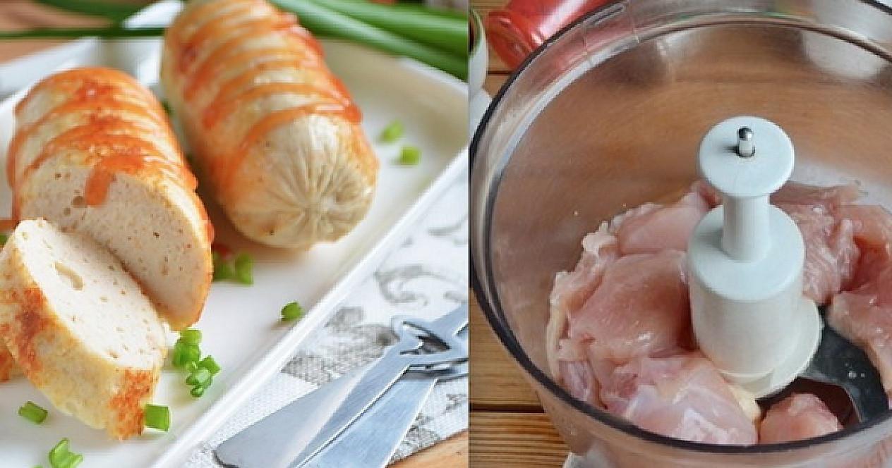 Naminės vištienos dešrelės : Šio recepto dėka daugiau parduotuvėse nebeperku
