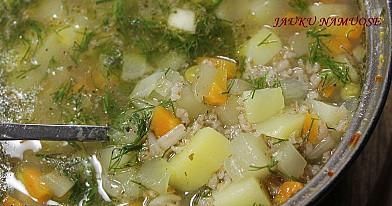 Daržovių sriuba su kruopomis