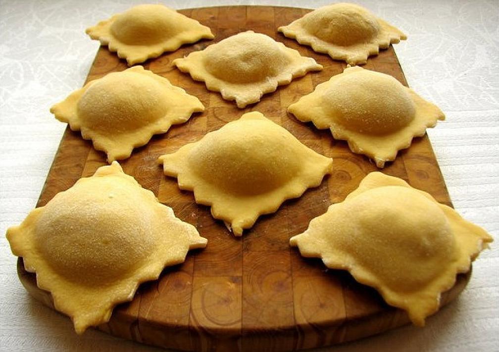 Moliūgų tešlos ravioliai su virta vištiena - visi nustebo kaip jie pagaminti!