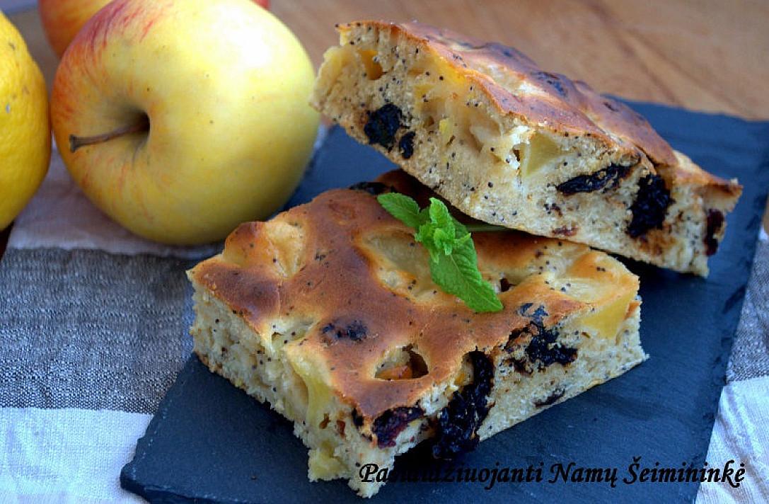 Obuolių pyragas su džiovintais vaisiais - kodėl taip negaminau anksčiau?!