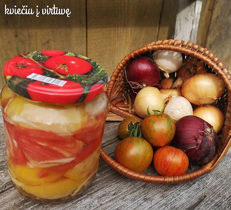 Pomidorai su želatina, žiemai - šis receptas yra mano mamos ir mūsų visų labai mėgstamas!