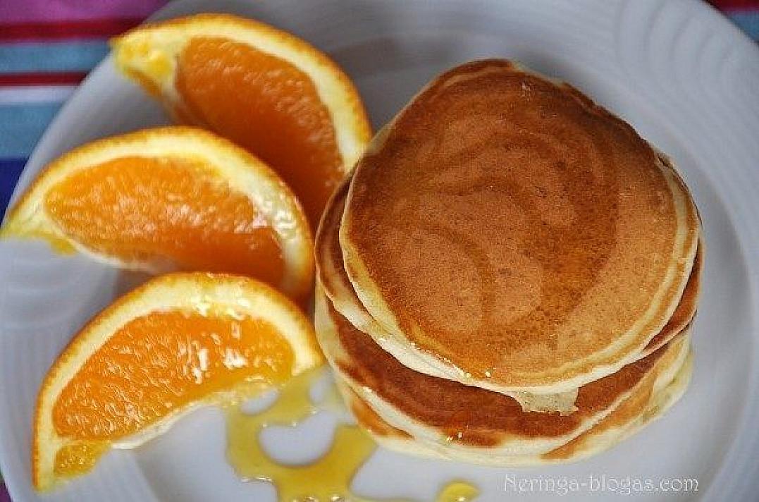 Pancakes (blynų) bazinis receptas