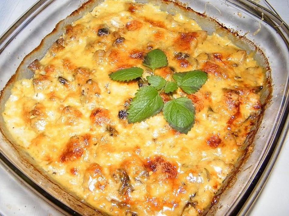 Vištienos apkepas su sūriu ir grybais