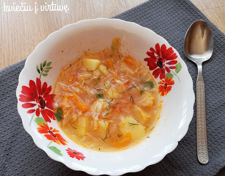 Kopūstų sriuba su pomidoru - nuo šiol gaminsite tik taip!