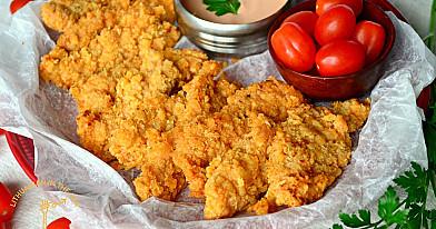 Хрустящие куриные полоски – вместо закуски, к пиву и не только!