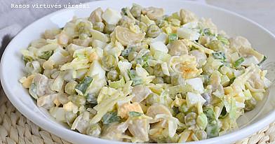 Королевский салат с маринованными шампиньонами