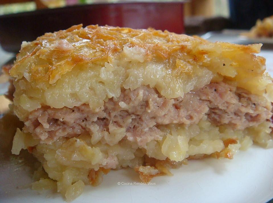 Слоёная картофельная бабка – кугель по рецепту моей бабушки!