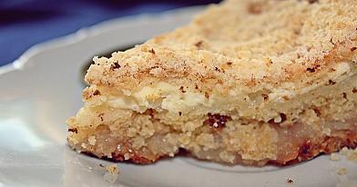 Pyragas su rikota (ricotta) ir obuoliais