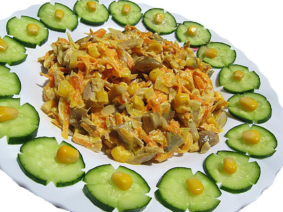 Простой мясной салат