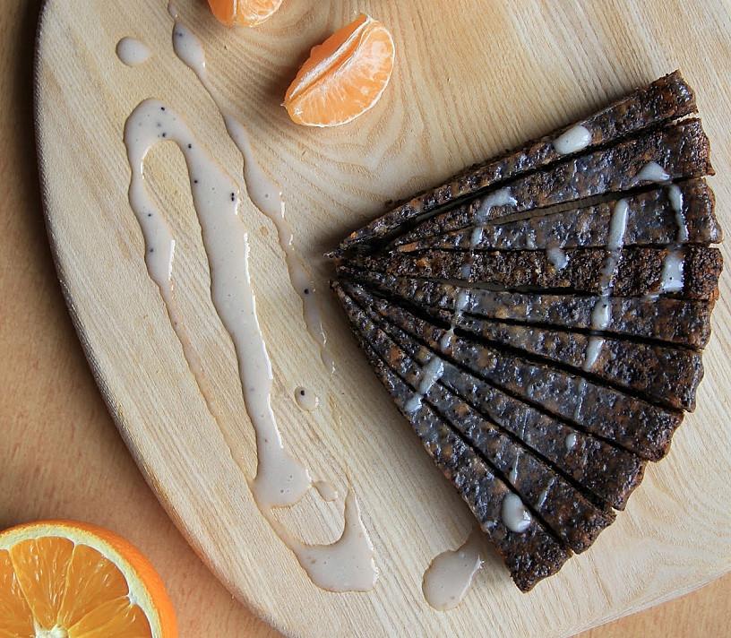 Веганский пирог с маком ♥ без молока и яиц (очень подходит для сочельника или рождества!)