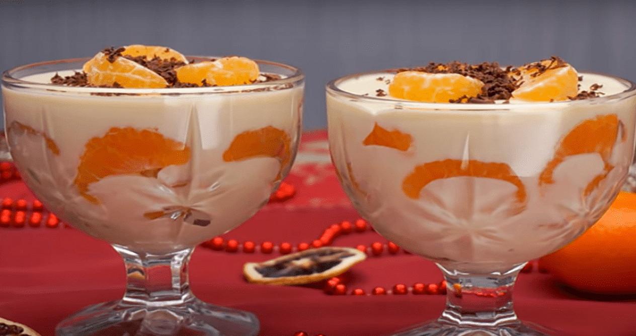 Desertas su mandarinais, kuris taps puikia šventinio stalo puošmena!