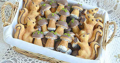 Biskvitiniai grybukai ir voveraitės - nuo šil gaminsite tik šitaip!