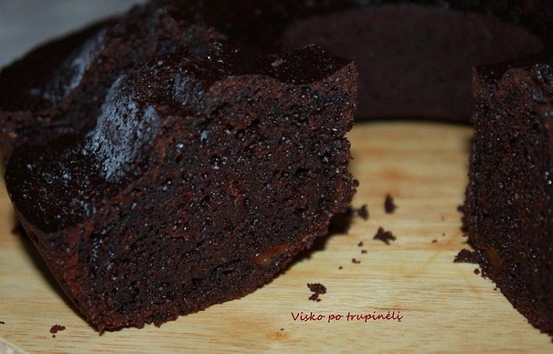 Šokoladinis cukinijos keksas