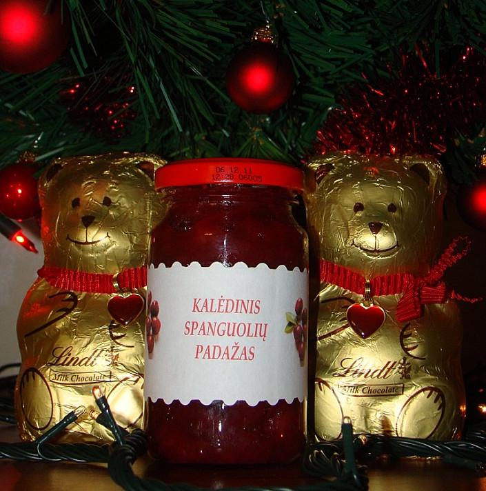Kalėdinis spanguolių padažas pagal Beatą (prie mėsos)
