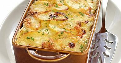 Bulvių pyragas su grybais ir jautiena
