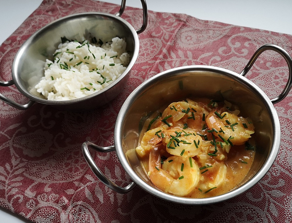 Krevetės kario padaže - norėsite išsisaugoti šį receptą ateičiai!