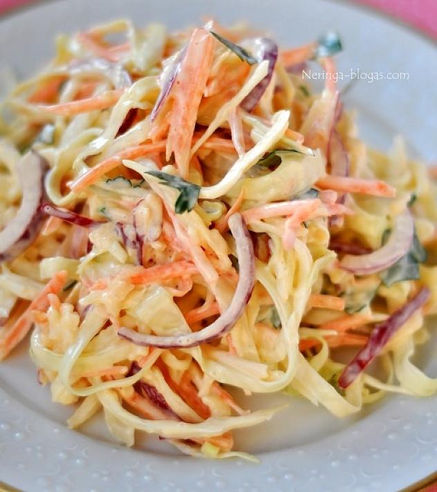 Skaniausios kopūstų salotos - tarsi Coleslaw, tik su obuoliais ir garstyčiomis!