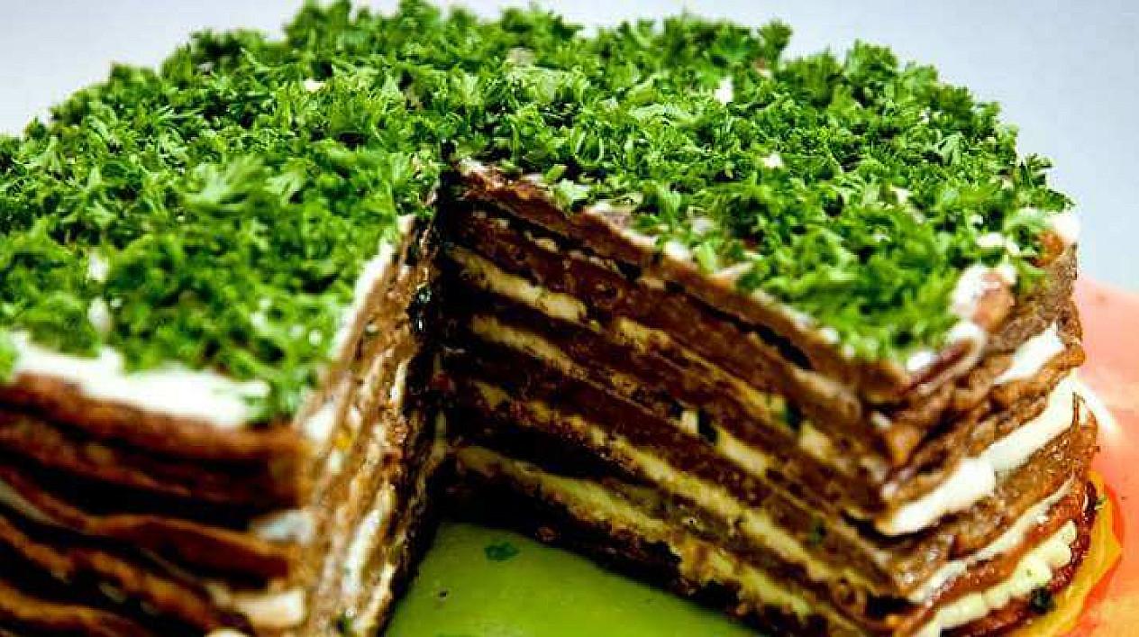 Vištienos kepenėlių tortas. Teisingiausias ir skaniausias receptas
