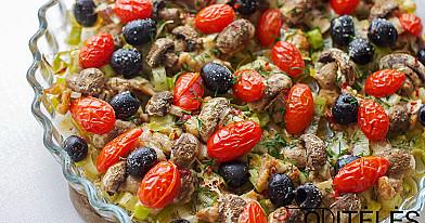 Orkaitėje kepta triušienos mėsytė su daržovėmis