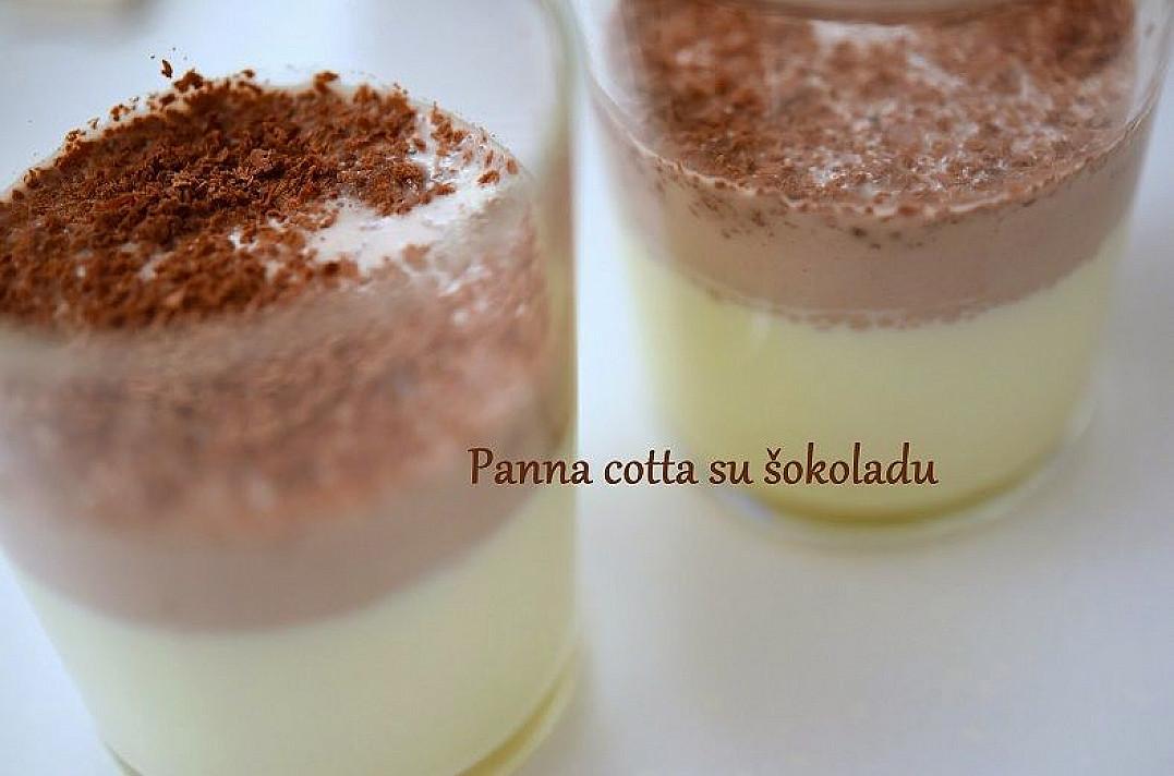 Desertas: Panna cotta su šokoladu