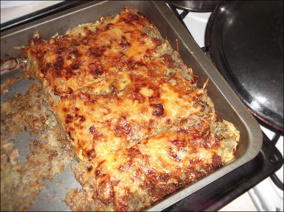 Bulvių apkepas su faršu - daug skaniau nei kugelis!