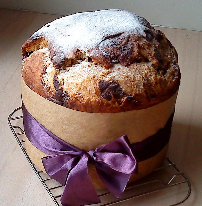 Panettone pyragas (tešla paruošta duonkepėje!)
