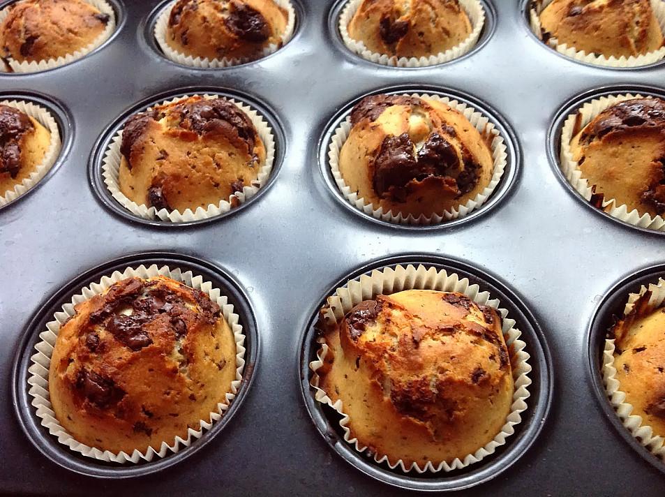 """Fantastyczne """"Muffiny"""" z kawałeczkami czekolady"""