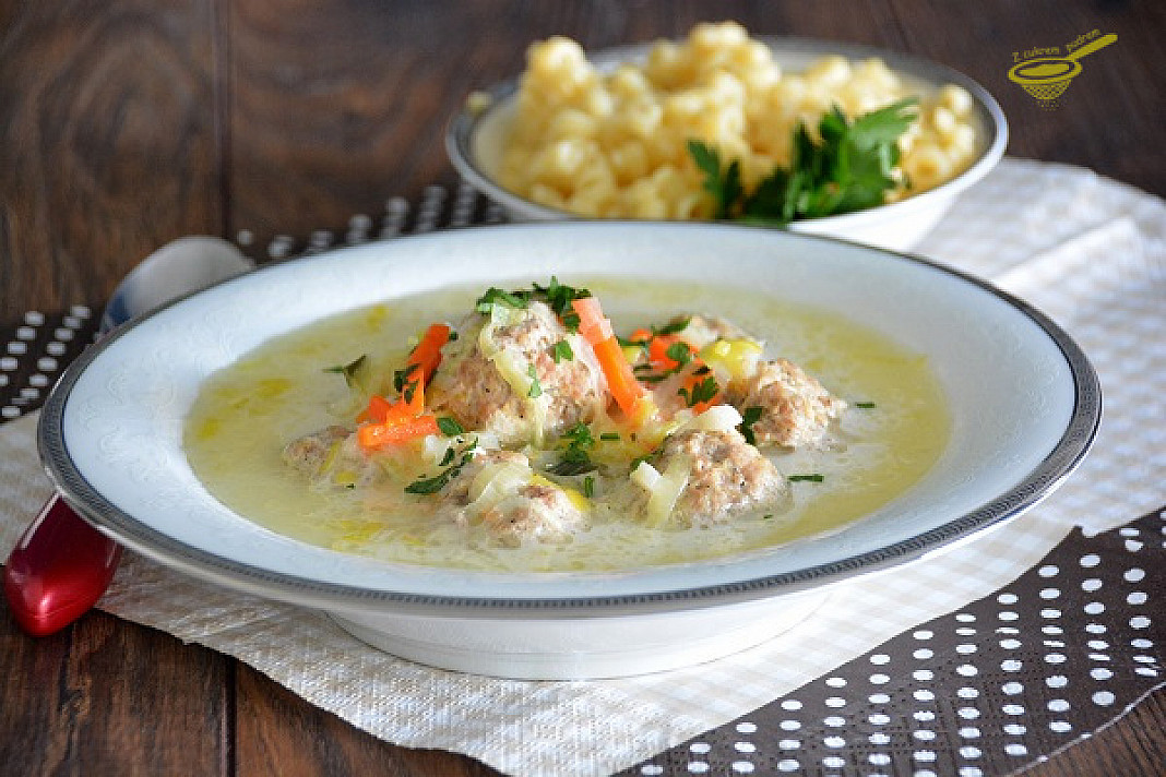 Zupa serowa z porem