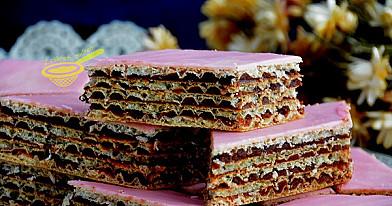 Wafle z czekoladą i galaretką